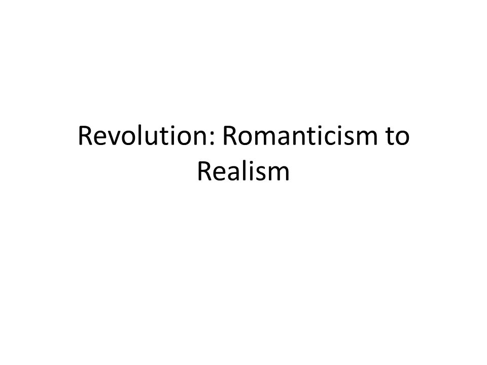 essay on romanticism and realism Realism vs romanticism in arms and man instances and develop the theme of realism shaw satirizes romanticism within arms and the man by the essay.