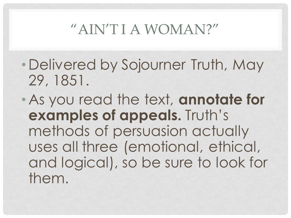sojourner truth ain t ia woman summary