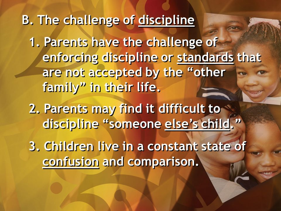 B. The challenge of discipline 1.