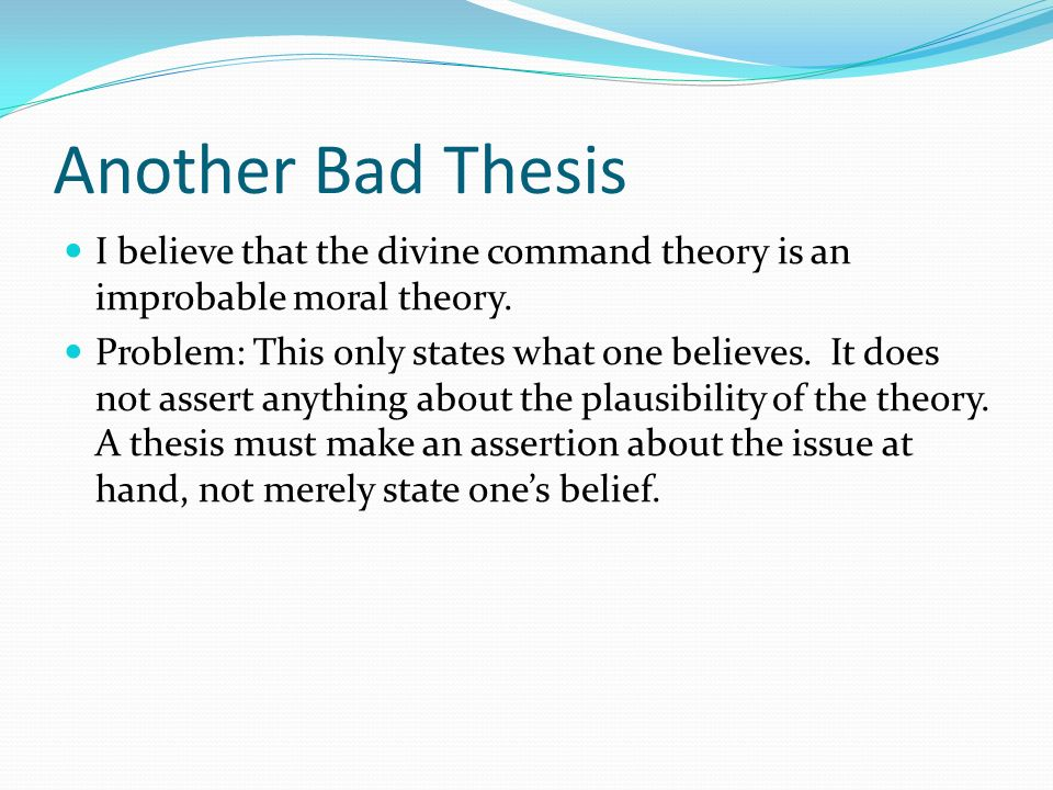 Divine command theory term papers