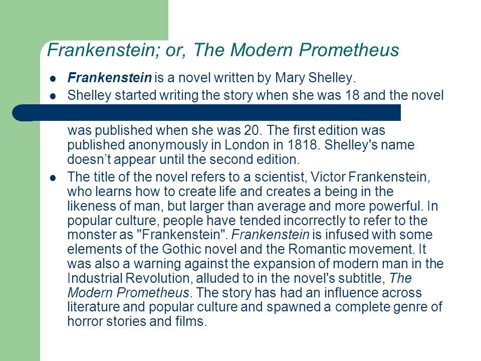 frankenstein industrial revolution essay