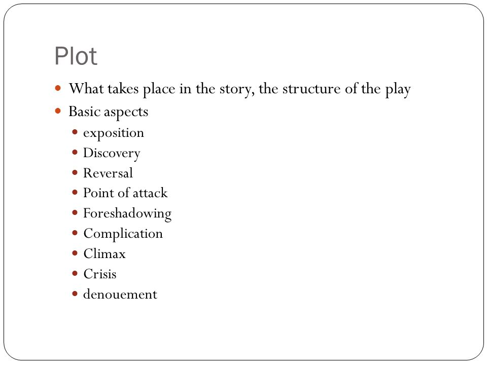 Script Analysis. The Six 1. Plot 2. Characters 3. Thought 4 ...