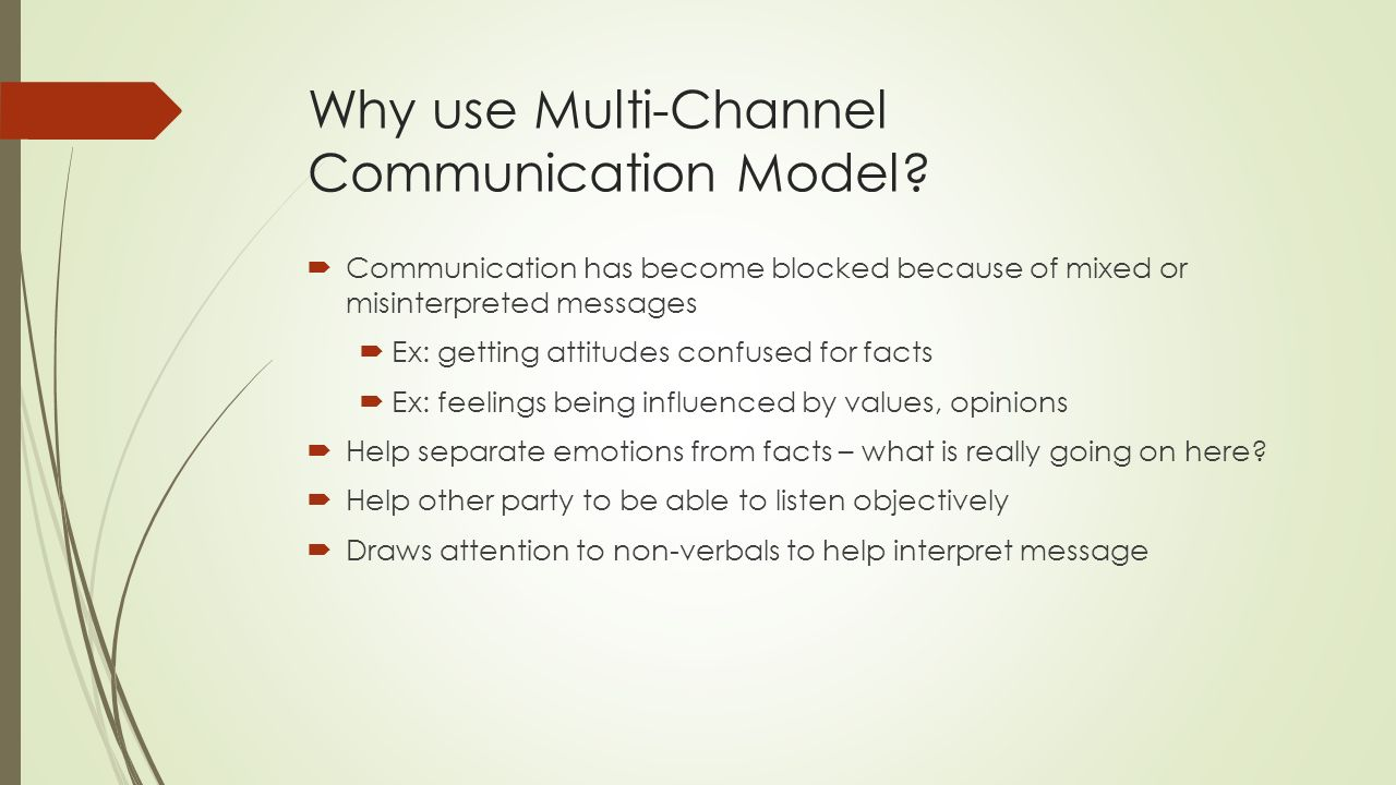 Why use Multi-Channel Communication Model.