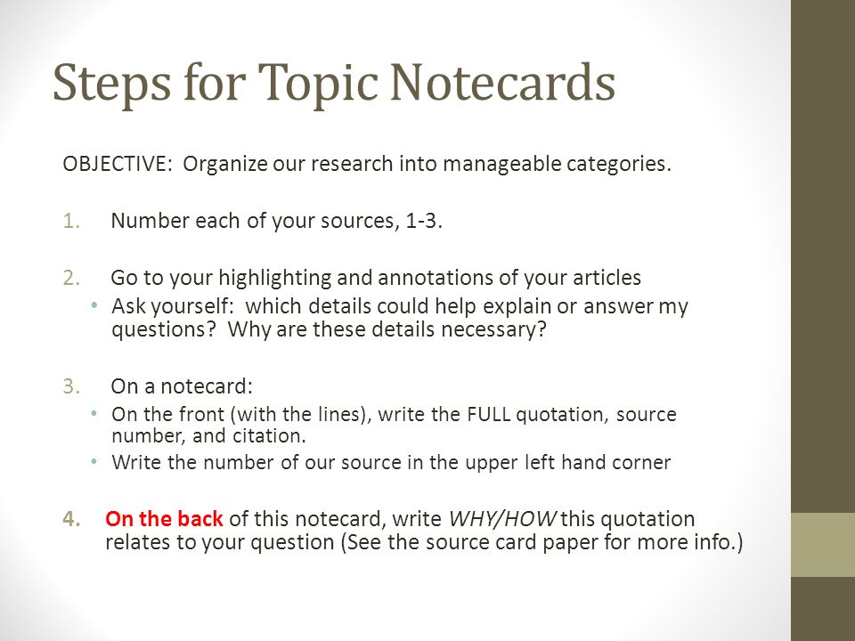how to write notecards for a research paper How to write notecards for a research paper - good essay writing site voting for best essay has started you can express your opinion by.