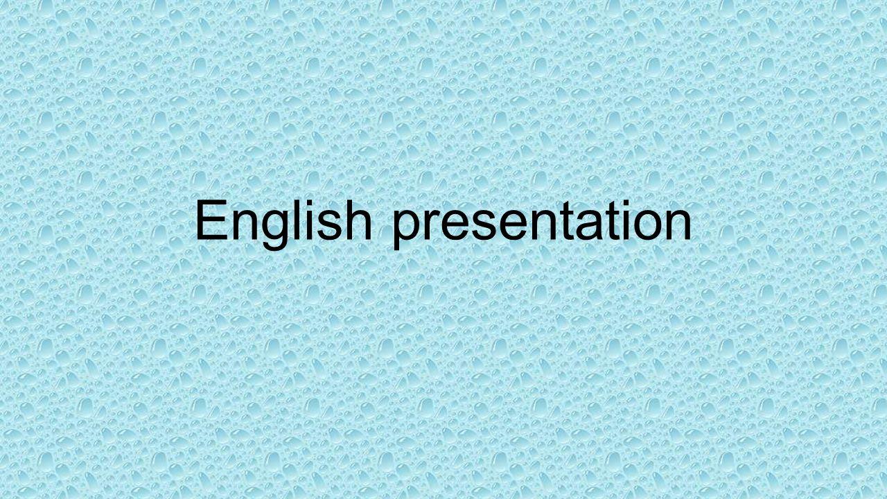 English presentation help?