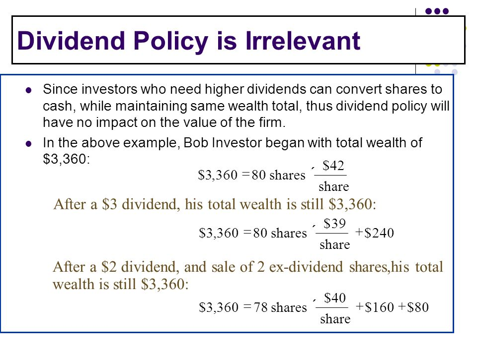 dividend policy Liability strategies group global markets corporate dividend policy february 2006 authors henri servaes professor of finance london business school.