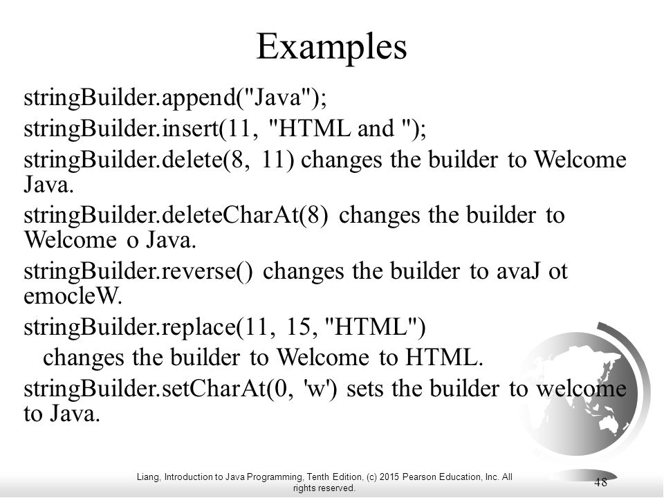 Liang, Introduction to Java Programming, Tenth Edition, (c) 2015 ...