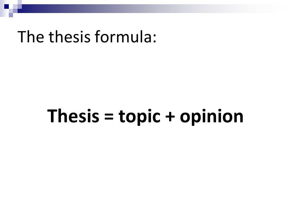 basic formula for writing an essay