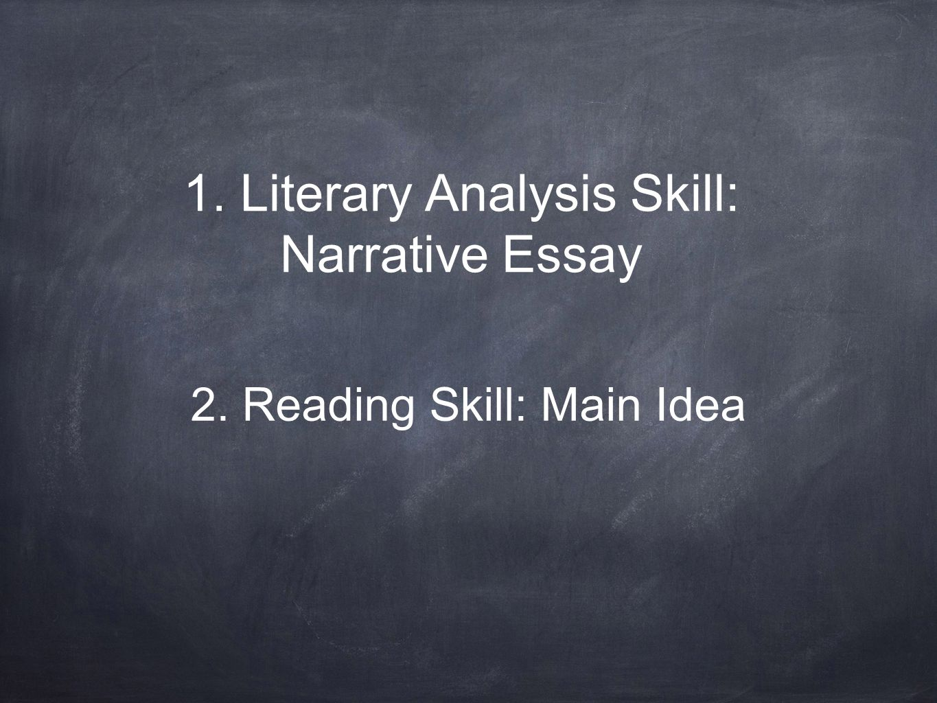 essay about reading skills