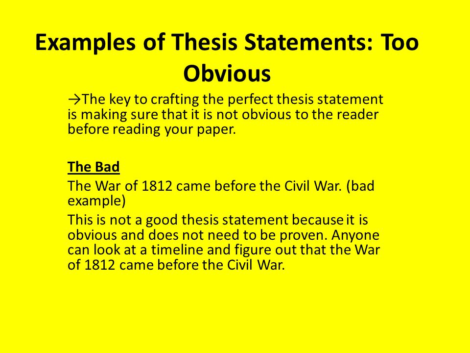 thesis statement expository
