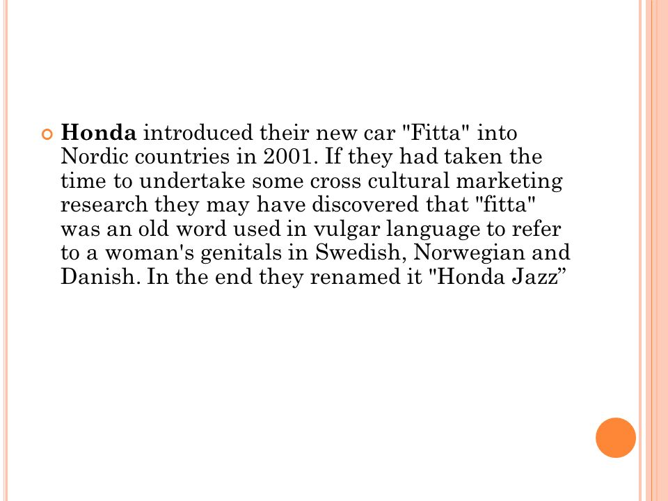 Honda introduced their new car Fitta into Nordic countries in 2001.