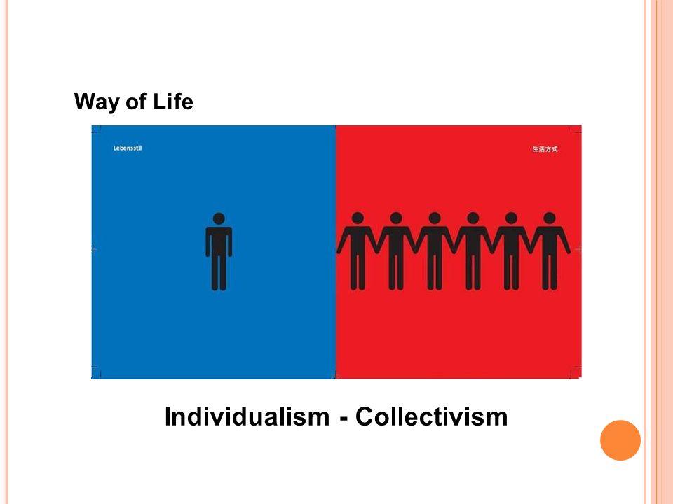 Way of Life Individualism - Collectivism