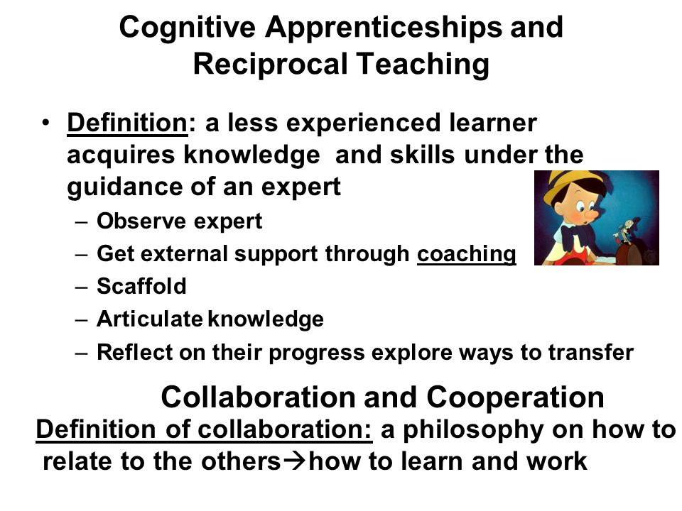 Attractive 3 Cognitive Apprenticeships And Reciprocal Teaching Definition: ...