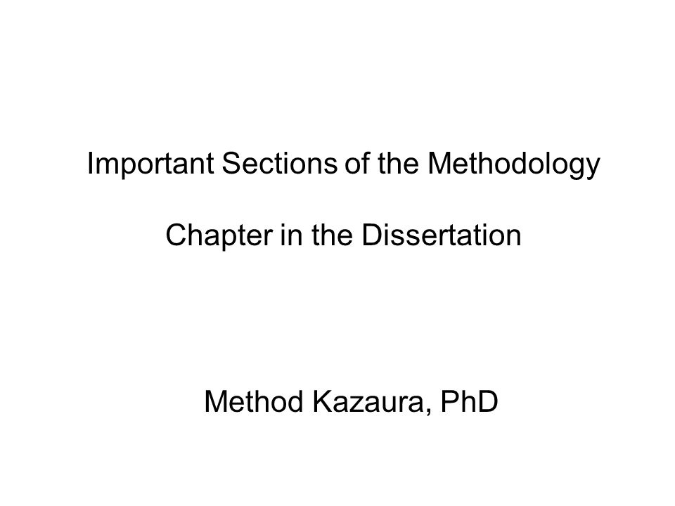 phd thesis methodology chapter For such a thesis, the chapter headings might be: theory, materials and methods, {first problem}, {second problem}, {third problem}, {proposed theory/model} and then the conclusion chapter for other theses, it might be appropriate to discuss different techniques in different chapters, rather than to have a single materials and methods chapter.