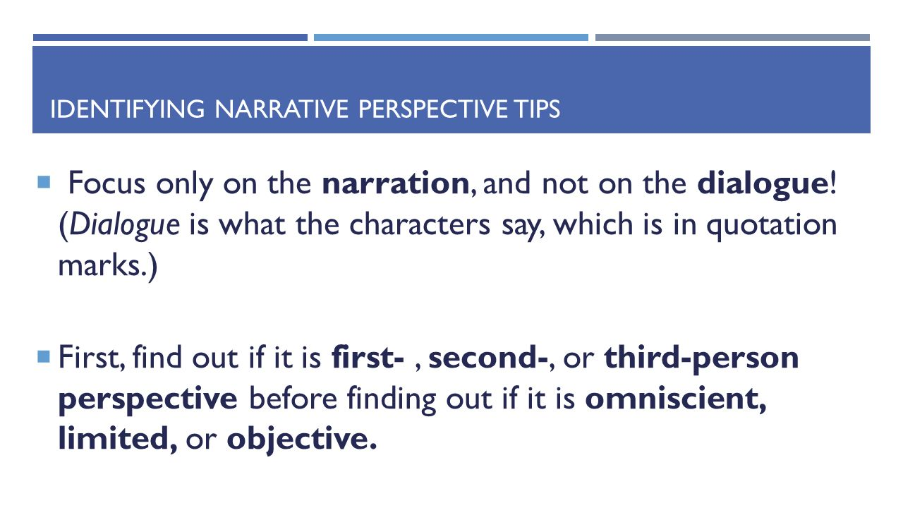 first person narrative and individuals perspective First person point of view is the most intimate way to write your story it seems like the most natural viewpoint to beginning writers, but it is deceptively easy.