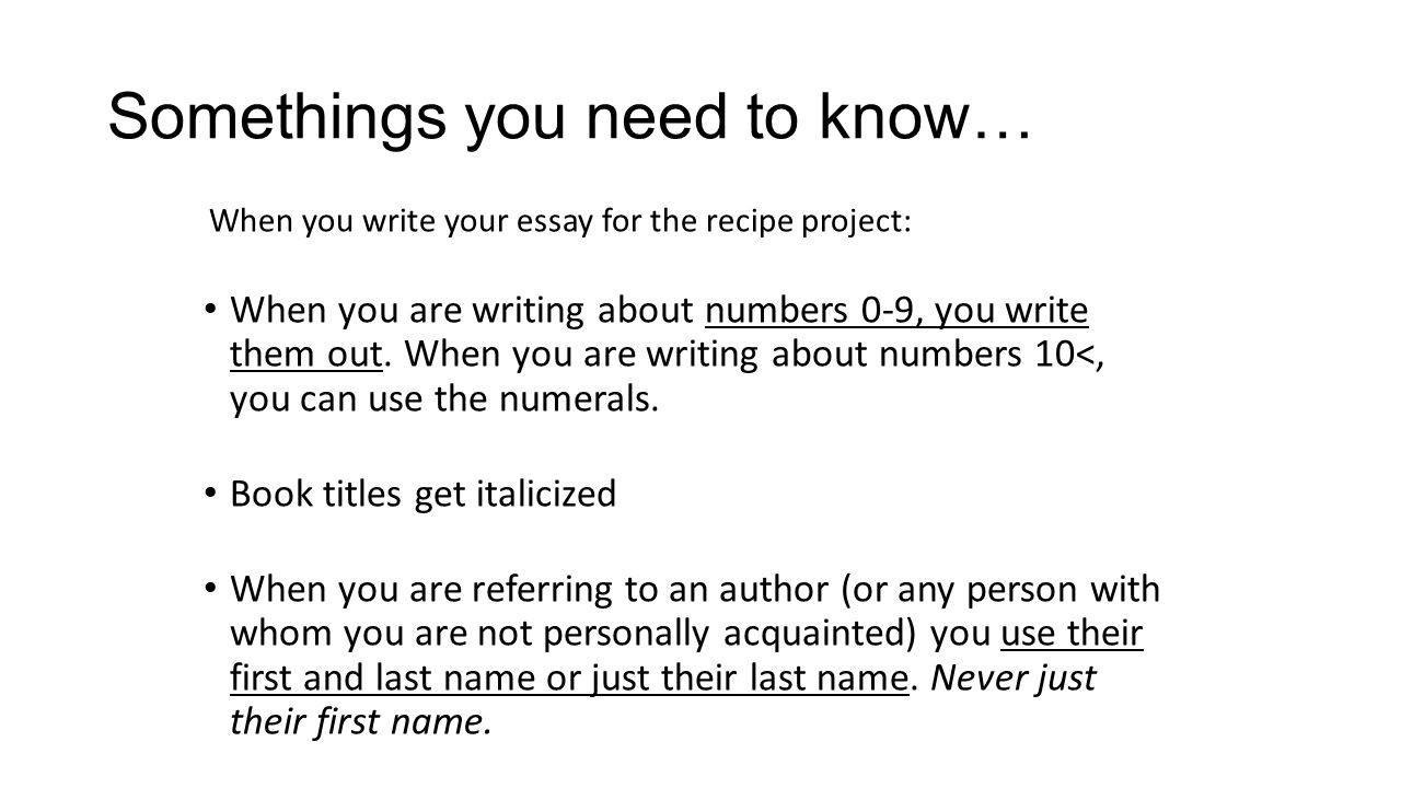 essay writing using numbers