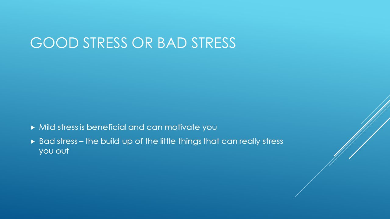 WHAT IS STRESS Feeling of Tension Feeling of frustration Worry ...
