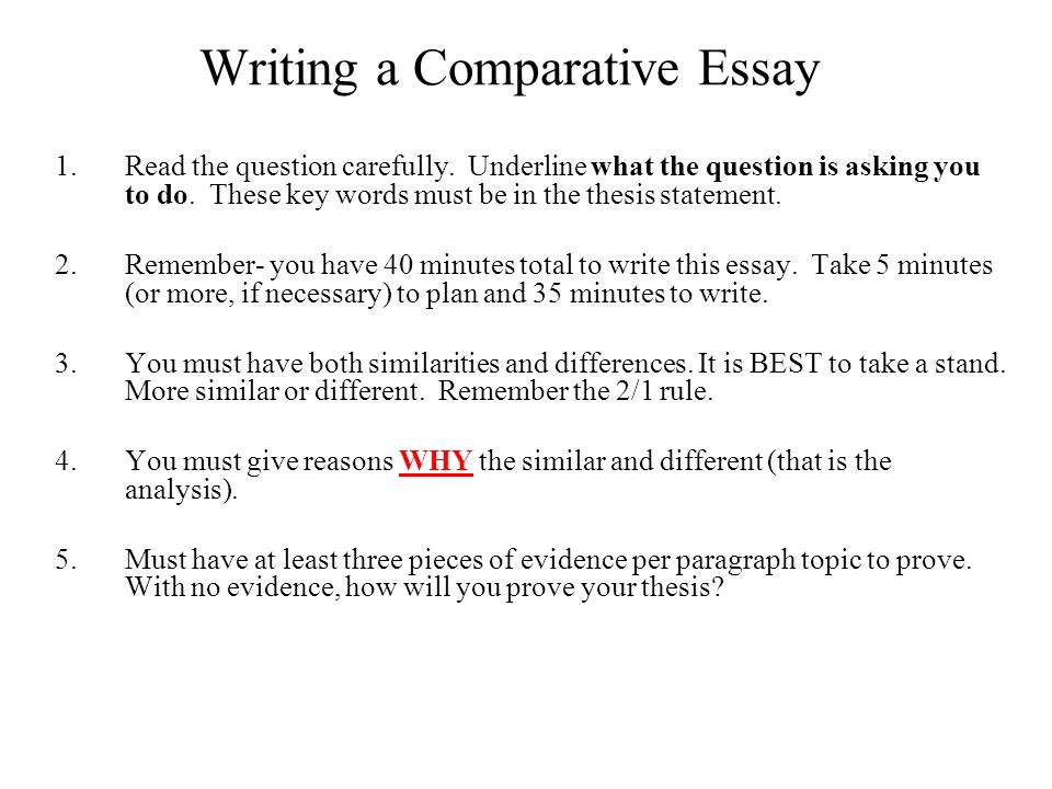compare contrast essay reflection writing a comparative essay  writing a comparative essay 1 the question carefully