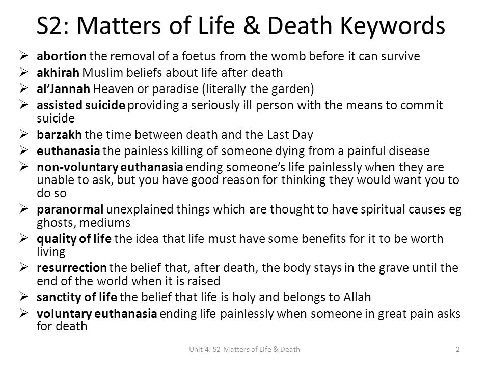 a research on the muslim belief of death Relationship between religious beliefs and life aligarh muslim university, aligarh results showed a negative correlation between religious beliefs and death.