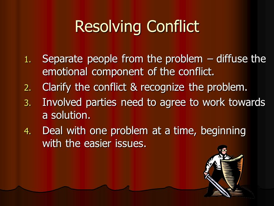 Resolving Conflict 1.