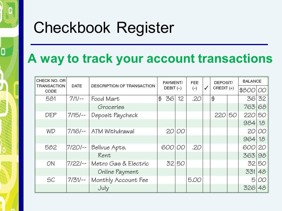 online check register