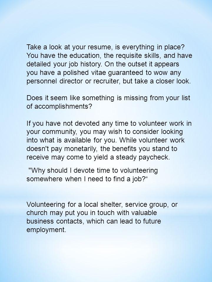 how to put church volunteer work on resume