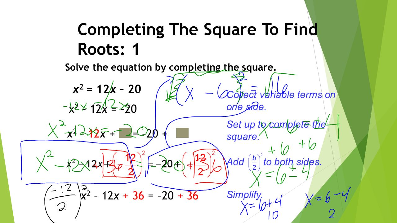 Solve The Equation Bypleting The Square