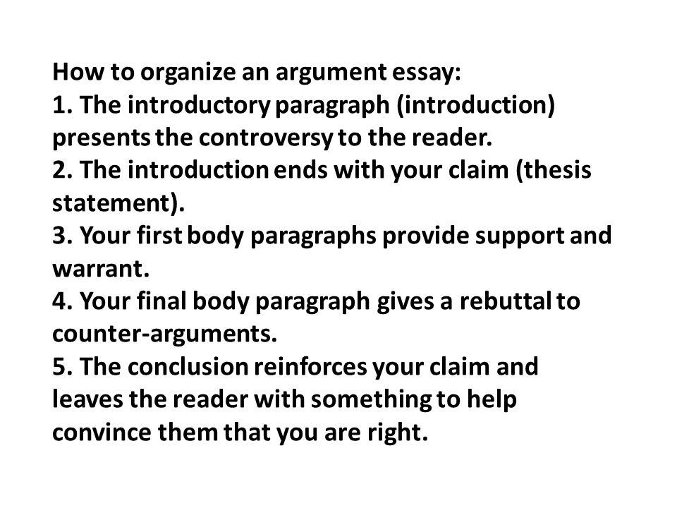 an argument essay takes a stand on a controversial issue and  6 how to organize an argument essay