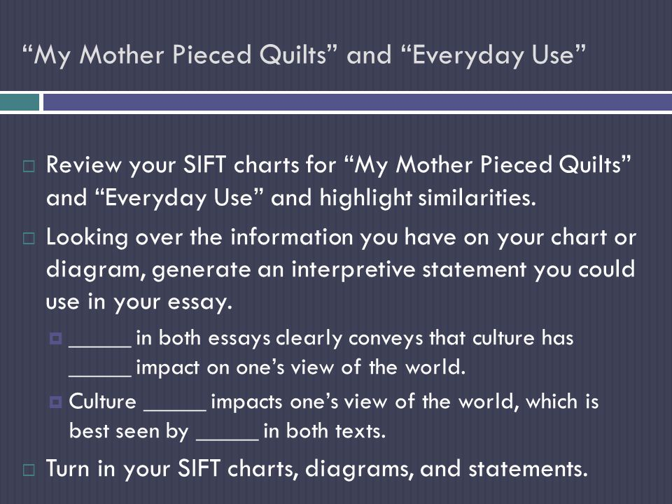 "english honors day objective to synthesize information to  4 ""my mother"