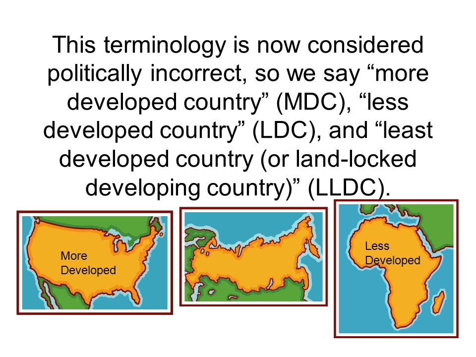 why some countries are called developing countries and some developed countries