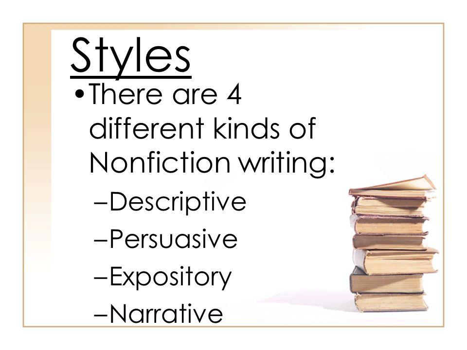 Narrative writing styles
