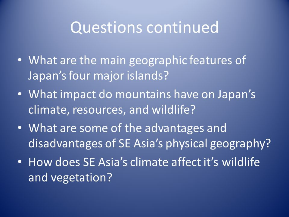 Asia Geography Important Pages ESE Asia Map P Geo P - Japan map questions