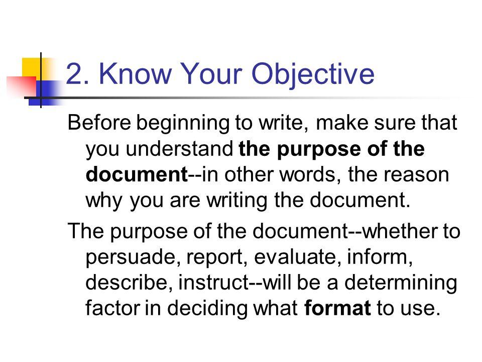 Purpose of technical writing