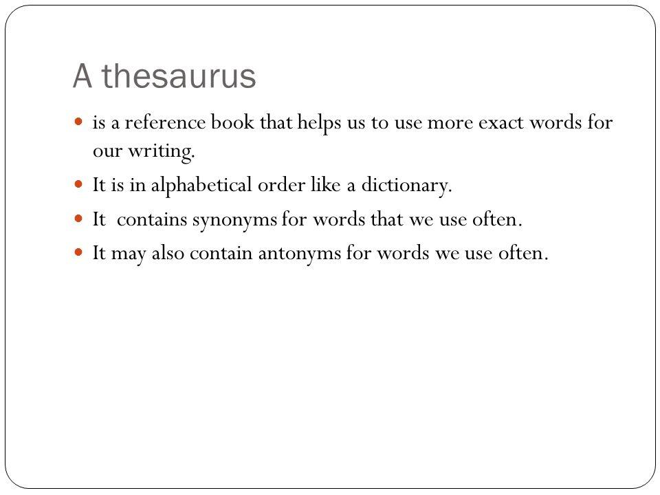 Thesaurus helps