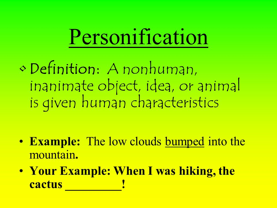 What Is The Meaning Of Personification And Examples Choice Image