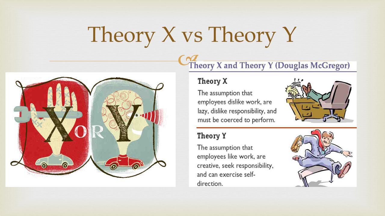  Theory X vs Theory Y