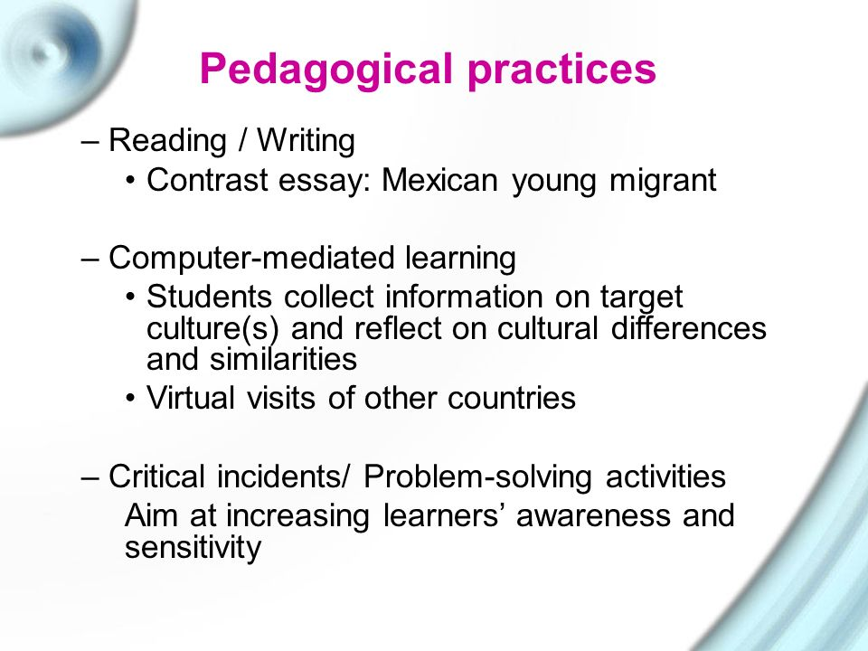 teaching culture dr mary georgiou university of nicosia ppt  9 pedagogical practices reading writing contrast essay