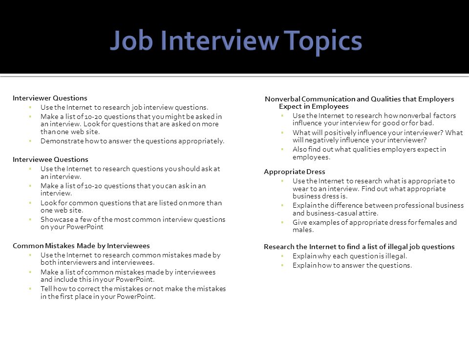 3 interviewer questions - Interviewee Questions To Ask On A Job Interview
