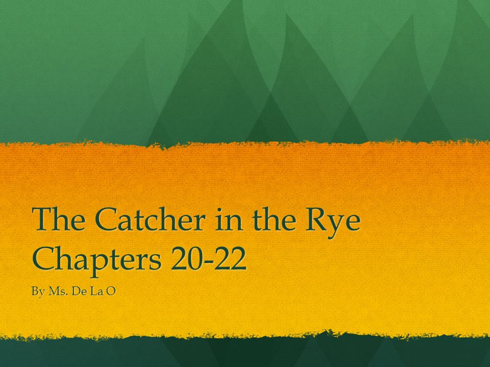 catcher in the rye chapters 20 22