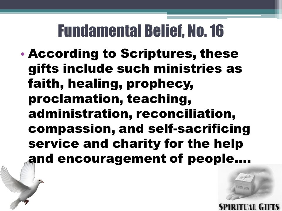 Understanding and using spiritual gifts for ministry mission by 9 fundamental belief negle Images