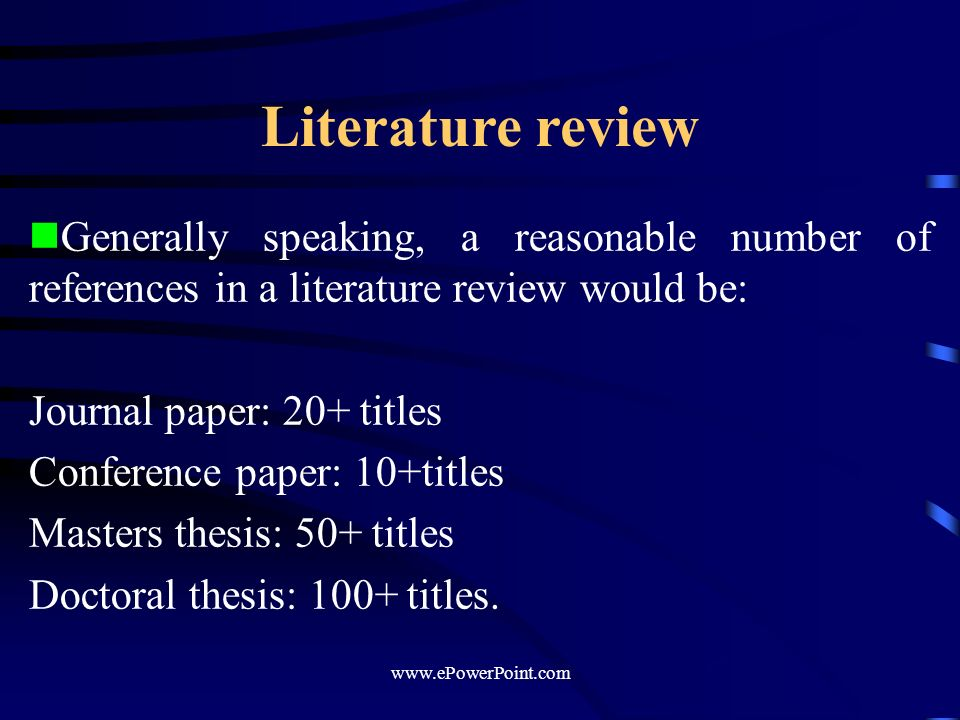 writing a literature review for a masters thesis What is a literature review students are often unsure of how to write a literature review this is usually because, unlike other stages of a thesis such as methods and results, they have never written a literature review before.