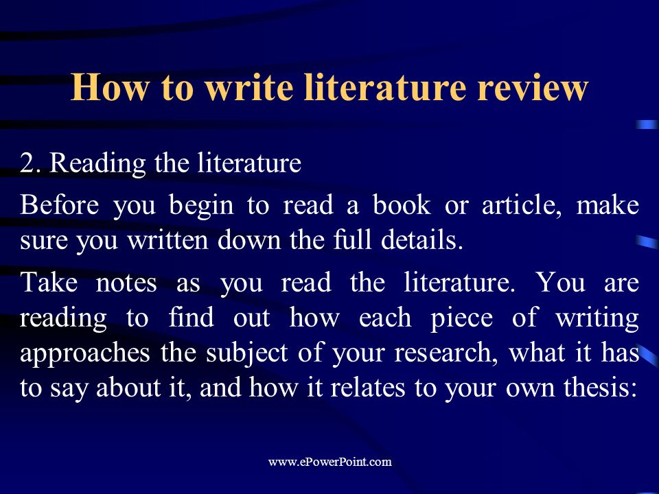 literature review how to write About this handout the literature review, whether embedded in an introduction or standing as an independent section, is often one of the most difficult sections to compose in academic writing.