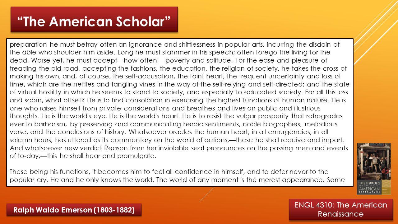 ralph waldo emerson the american scholar essay 91 121 113 106 ralph waldo emerson the american scholar essay