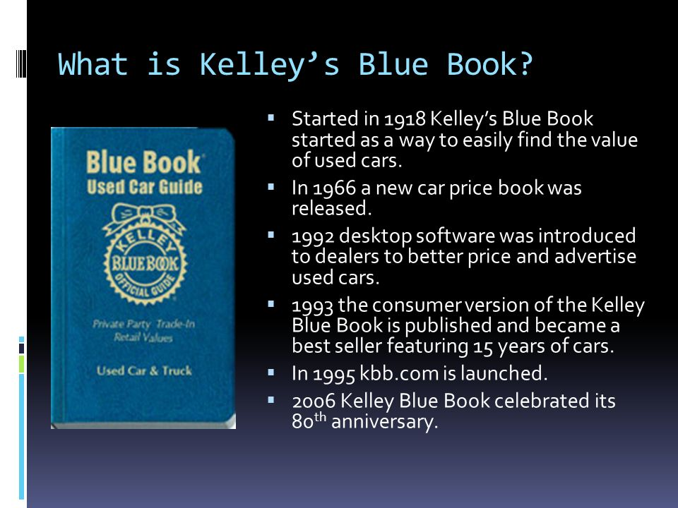 Allyson Palagi. Official Kelley Blue Book - ppt download