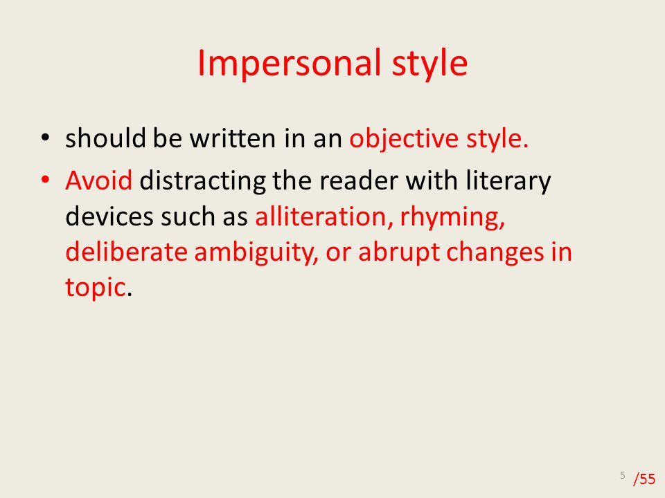 APA Style..personal or inpersonal?