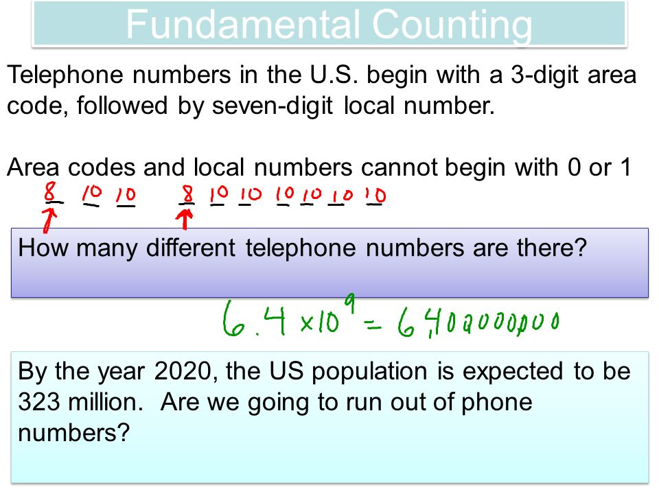 67 Permutations and Combinations Fundamental Counting You have the