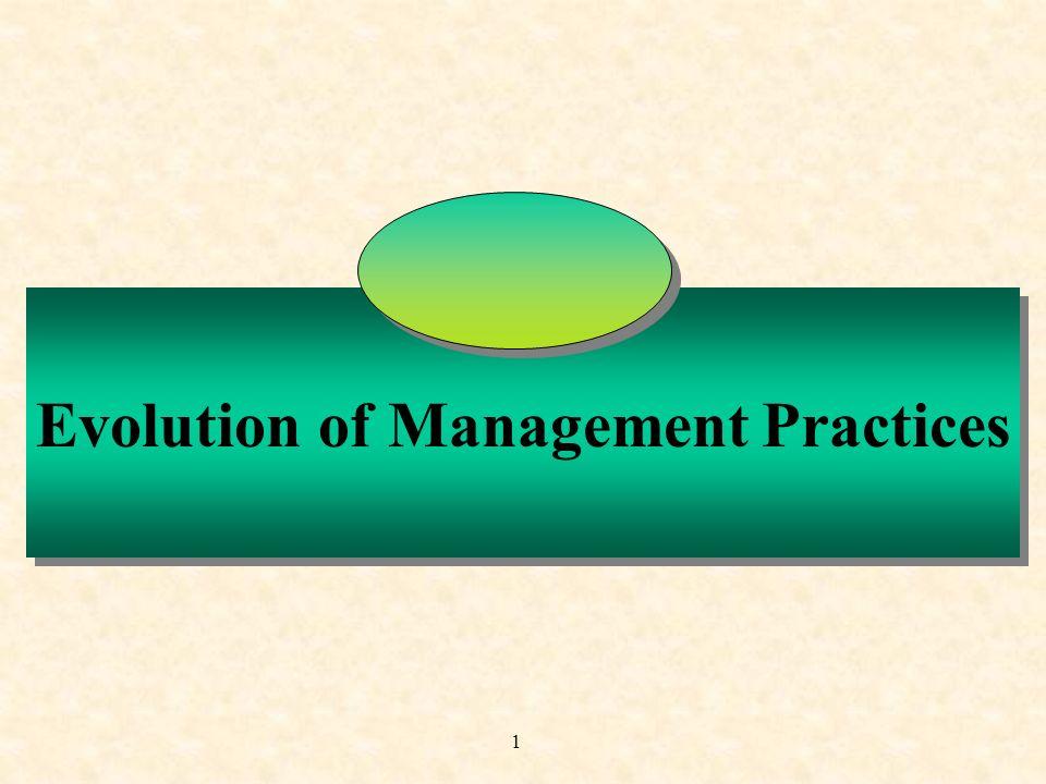 1 Evolution of Management Practices