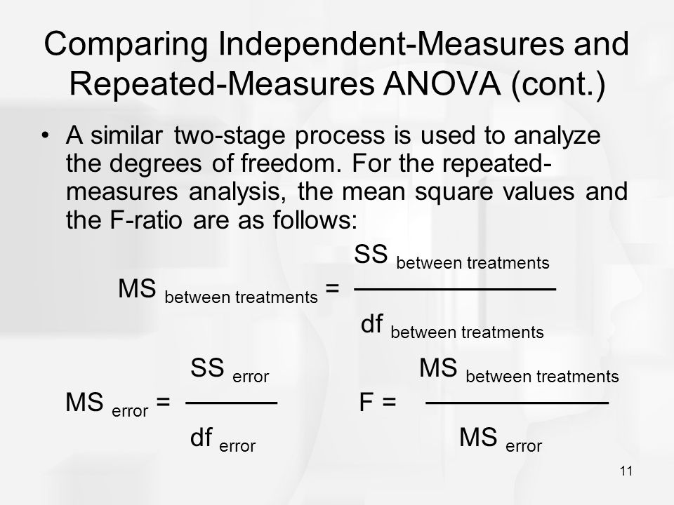 Repeated measures or independent measures?