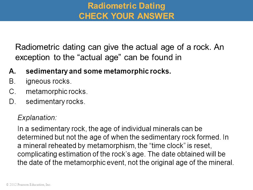 How Could Radiometric Dating Be Used To Sort