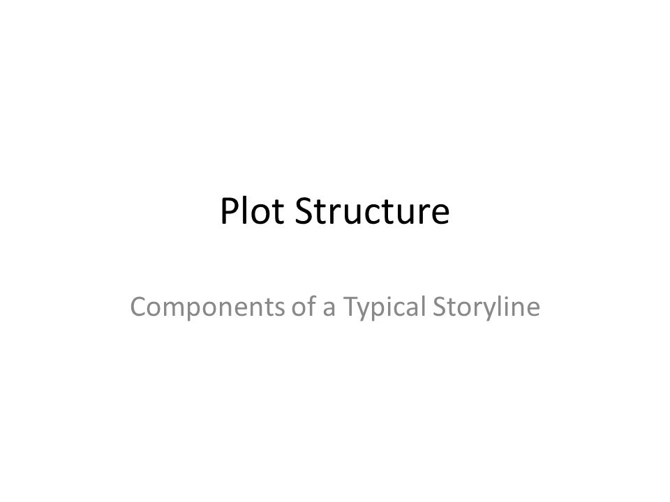 Plot Structure Components of a Typical Storyline